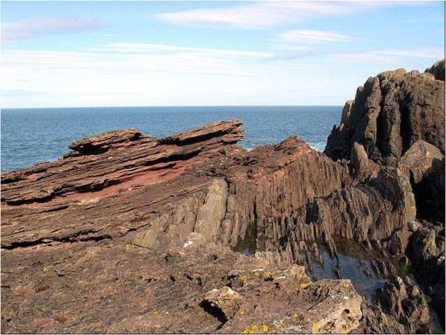 Angular Unconformity at Siccar Point  Scotland  Siccar Point  Scotland  Photo  Wikipedia